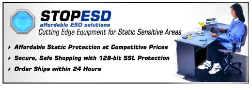 Cutting Edge ESD Protection, ESD Matting, Grounding Wrist Straps, ESD Warning Labels, ESD Flooring Cleaners, Copper Tape